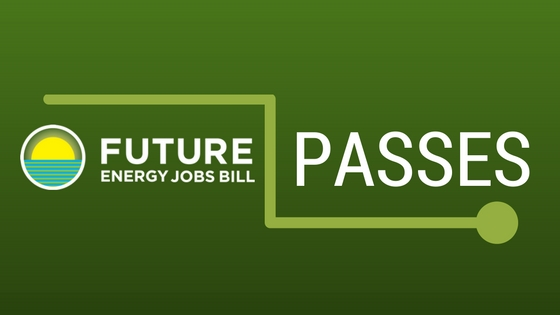 Future Energy Jobs bill passes