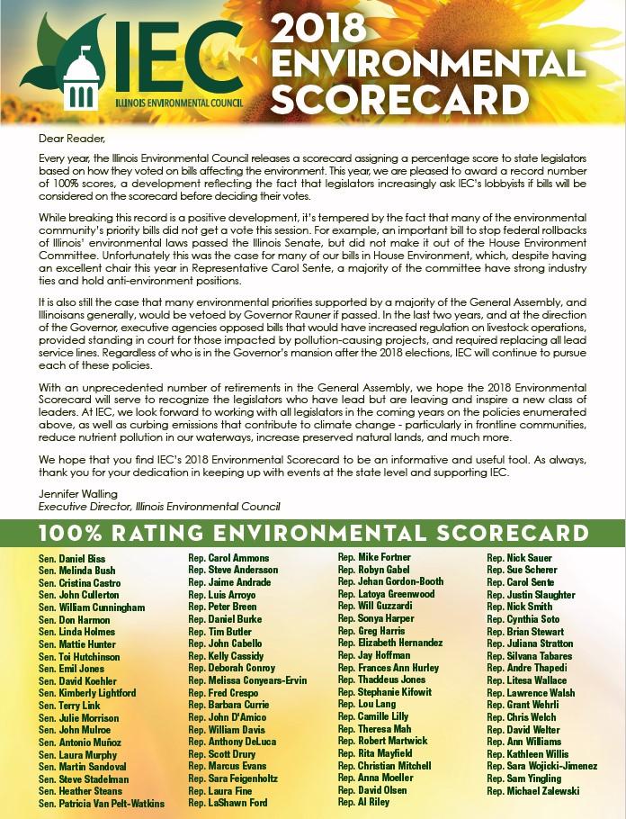 2018 IEC Scorecard