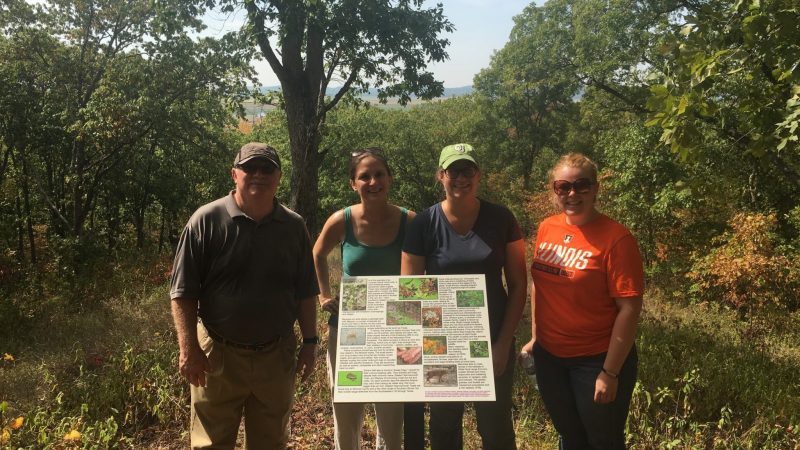With Mary Vandevord of Heartlands Conservancy at White Rock Nature Preserve.